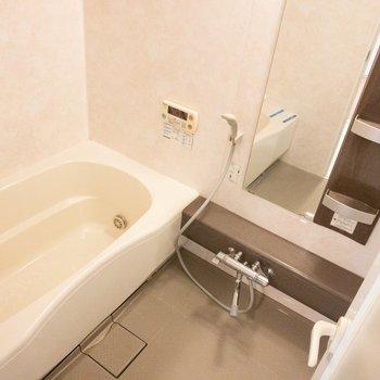 ゆったりできそうな大きめの浴槽。