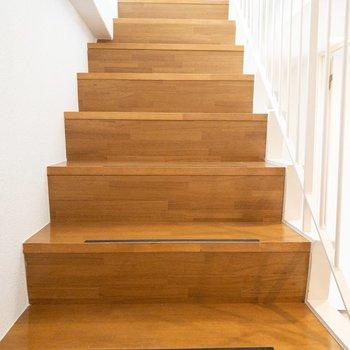 さて、階段を降ります。