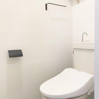スタイリッシュなお手洗い!タオル掛けなんてもうっ...!