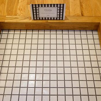 【イメージ】玄関には白いタイルを設置。清潔感100%!