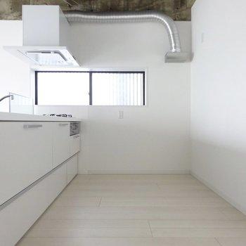 冷蔵庫と食器棚も十分置けます
