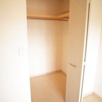 ウォークインで広々!※写真は7階の同間取り別部屋のものです