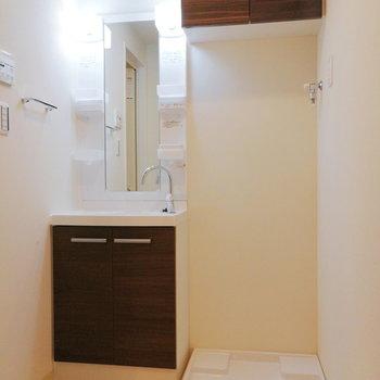 サニタリーなど、生活空間の設備が揃っています。※写真は2階の反転間取り別部屋のものです