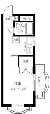 富士見町オリエントマンション の間取り