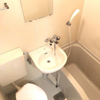 3点ユニットのバスルーム。