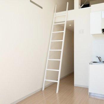 【居室】冷蔵庫置場はキッチンの隣。