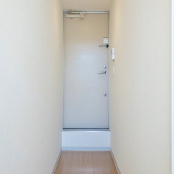 玄関マットがあると良いですね。