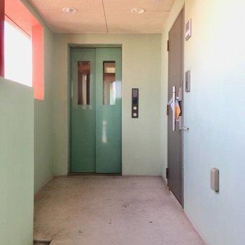 玄関先にもリードフックはありますよ。2重ロックで防犯面も◎