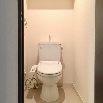 トイレはしっかりウォシュレット付き!