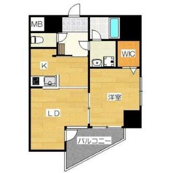 角部屋1LDK!1フロアに2戸しかないからちょっぴり贅沢気分。