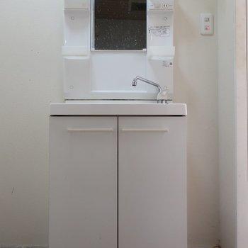 洗面台は程よいサイズ感かな(※写真は清掃前のものです)