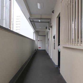 共用廊下もキレイ