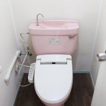 トイレもあらあら可愛いね(※写真は清掃前のものです)