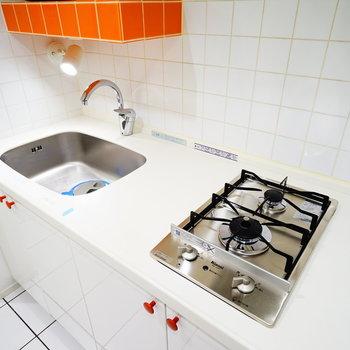 このキッチン、かわいい!※写真と文章は5階の反転間取り別部屋のものです