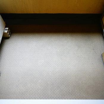 バルコニーは奥行きがあって◯※写真と文章は5階の反転間取り別部屋のものです