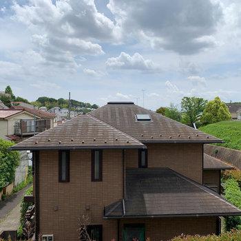 眺望は向かいのお家が見えます。