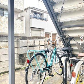 自転車置場もありますね。