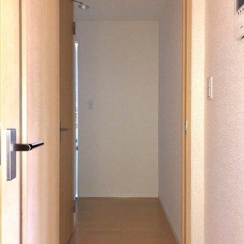廊下はまずまずの横幅です。※フラッシュを利用して撮影しています。