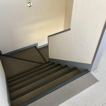 階段で4階まで!これは毎日の運動になるぞ。