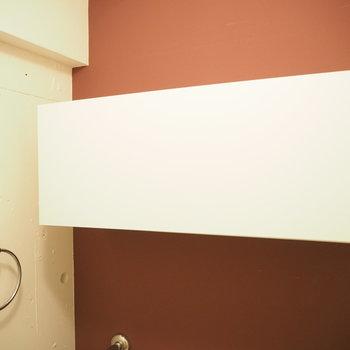 トイレの上には※写真は別部屋のものです