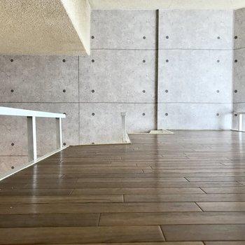 こちらロフトの上!※写真は同じ建物の別部屋のものです