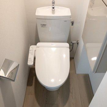 温水洗浄便座付きのトイレ。※写真は前回募集時のものです