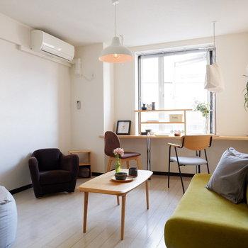 友人を招きたくなるようなお部屋。※写真は2階の同間取りの別部屋のものです ※家具はサンプルとなります