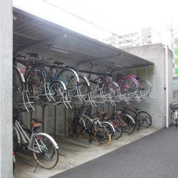 自転車置場はこちらです※写真は前回募集のものです ※要空確認