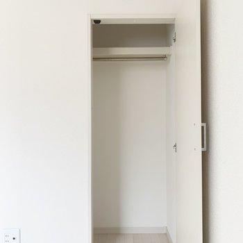 洋室は2つのクローゼット付き。