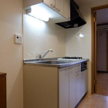 キッチン清潔感あります。※写真は4階反転似た間取りの別部屋のものです