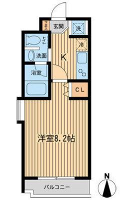 NSマンション3 (エヌエスマンション3 の間取り