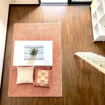 たまにはこうして部屋を眺めてみるのもいいかも。※写真は3階反転間取り別部屋、モデルルームのものです