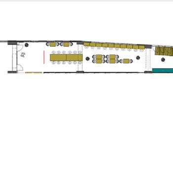 そして図面のこちらがコワーキングスペース。利用者様が使えるラウンジで、交流もたくさん生まれそう◎