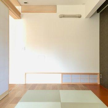 畳は琉球畳。洗練されたデザインがツボなのです。