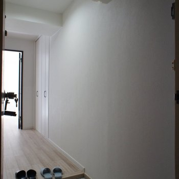 玄関から、ドアは内開き式。