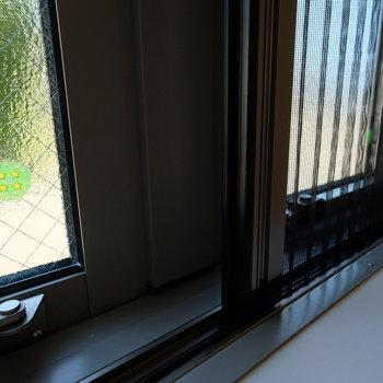 リノベには珍しく、断熱ガラスとスライド式の網戸!