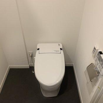 もはや日本の文化。ウォシュレットは手放せない!(トイレは脱衣所にあります。)