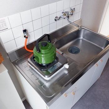 キッチンはシンク広めの1口ガスコンロ