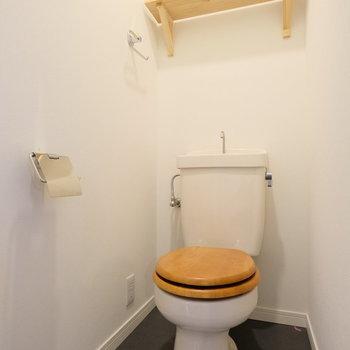 【イメージ】既存トイレには木製便座設置