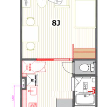 8帖もある居室スペース。結構ゆったりできそう♪
