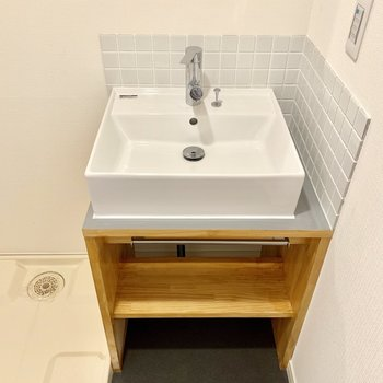 コロンとした洗面台がかわいい!