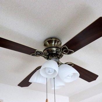 4枚の羽と可愛い室内灯