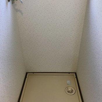 洗濯パンもしっかりあります。※写真は1階の反転間取り別部屋のものです。