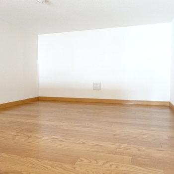 ロフトの広さはこのくらい。寝室にもできそう!