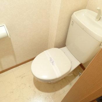 トイレもキレイ!床がオシャレ♬