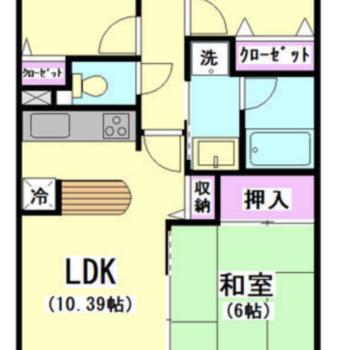 廊下を真ん中に、4部屋広がります。