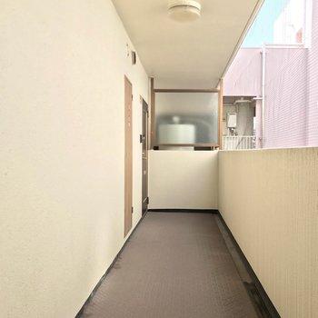 ワンフロア1戸だけのお部屋でした。