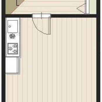 階段を上がって、2階のお部屋です
