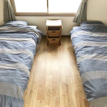 2つベッドは置けちゃいます。ふたり暮らしにピッタリ!
