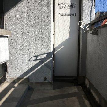 広々バルコニー、日当たりもよきです◎※写真は4階の反転間取り別部屋のものです